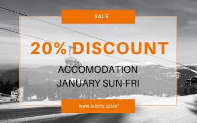 JANUARY ACCOMMODATION WITH 20% DISCOUNT